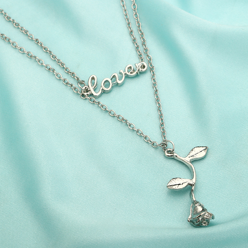 Alloy Fashion Flowers necklace(Golden) NHGY1746-Golden