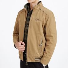 新款休闲男士夹克全棉户外宽松男双面夹克衫外套上衣外单9916