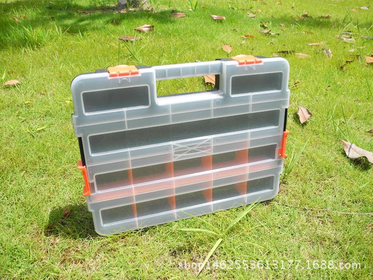 厂家直销15寸双安全扣家用医用户外电子元件配件零件手提箱分类盒