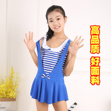 New children's swimsuit, one-piece skirt, flat angle, big boy sea scout princess, student girl swimsuit