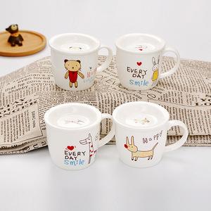高性价比动物早餐杯可爱卡通陶瓷杯快乐动物马克杯一件代发礼品杯