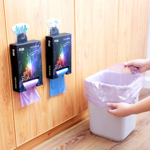2038 boxed hanging point break type household garbage bag thickening disposable 5 roll flat mouth garbage bag plastic bag