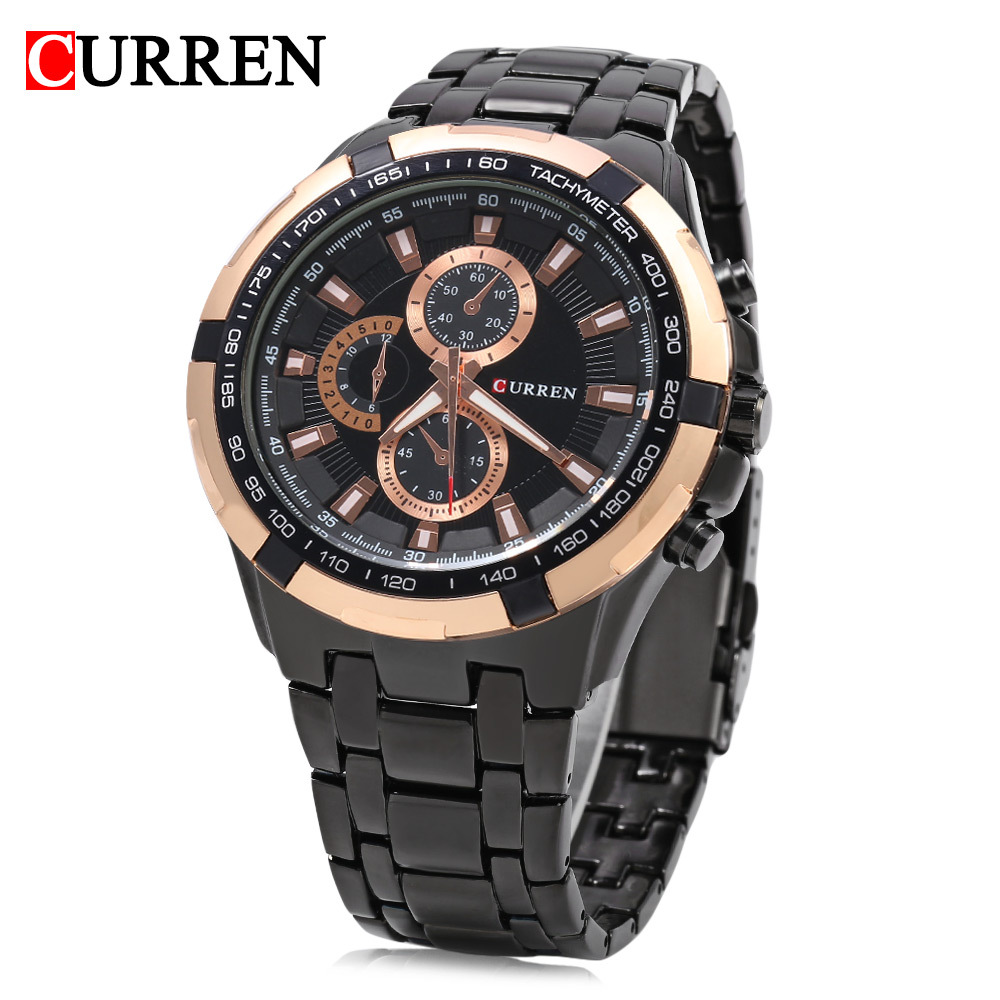 Curren Carrian 8023 Men's Watch Casual Business Waterproof Quartz Steel Strap Watch