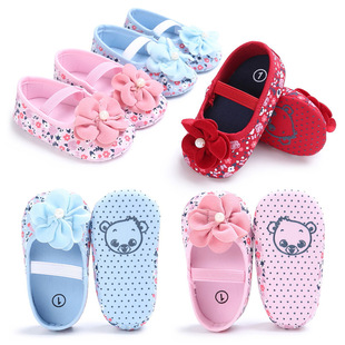 Baby shoes summer women's baby shoes soft sole 0-1 year old flower floral princess shoes toddler shoes one drop shipping