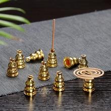 銅葫蘆金屬線香托香架 多功能香插盤香香薰爐香座