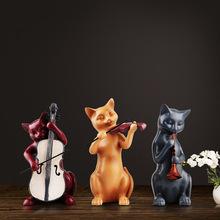 欧式创意三只猫家居装饰品摆设客厅电视柜酒柜摆件办公室工艺品装