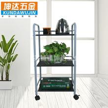 新款家居收納三層移動火鍋菜架推車 多功能烤漆置物架廚房收納架
