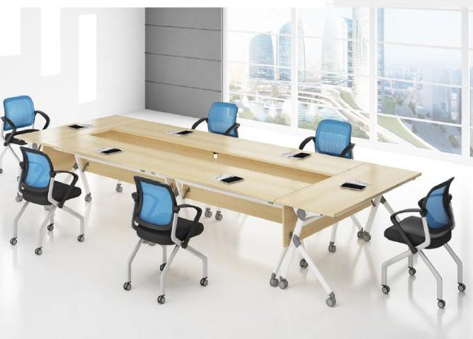 深圳12博官方网站员工培训折叠桌可移动长条会议桌定制