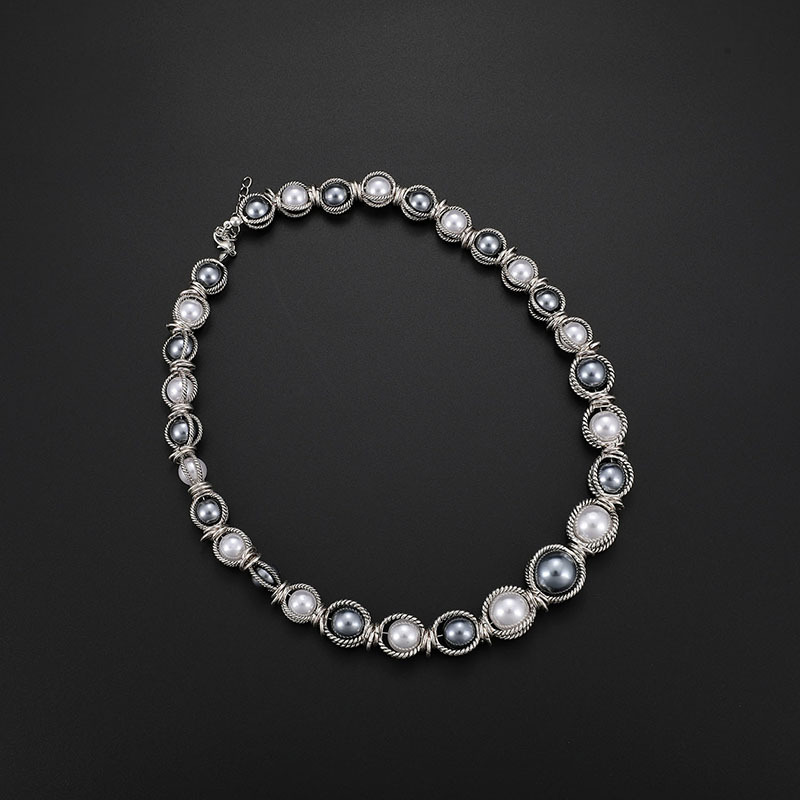 Alloy Fashion  necklace  (61173216 alloy) NHXS1735-61173216-alloy