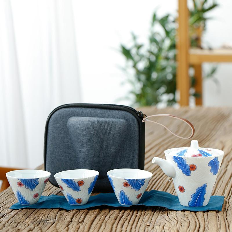 德化 可以 银花纸泡茶器芭蕉茶具