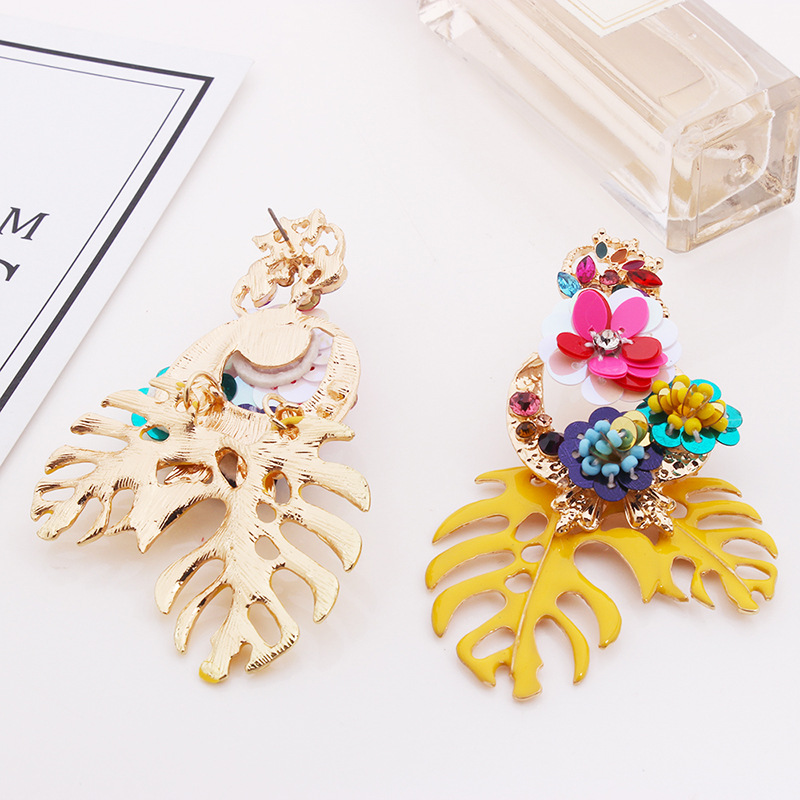 Alloy Fashion Flowers earring  (red) NHNMD4508-red