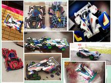 超星模王迷你儿童玩具赛车模型组装四驱车四驱兄弟拼装包邮