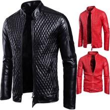 新款男士皮衣 2018秋季新款欧美外贸欧码外套大码皮夹克  B026