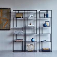简约创意客厅多层置物架 现代铁艺多功能收纳架工艺品隔断展示架