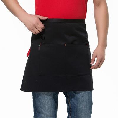 带笔套 服务员小围裙,工作服纯色围裙 PWQ25