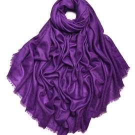 【凱米爾酷】內蒙古廠家批發暗格紋羊絨圍巾女士秋冬保暖素色披肩