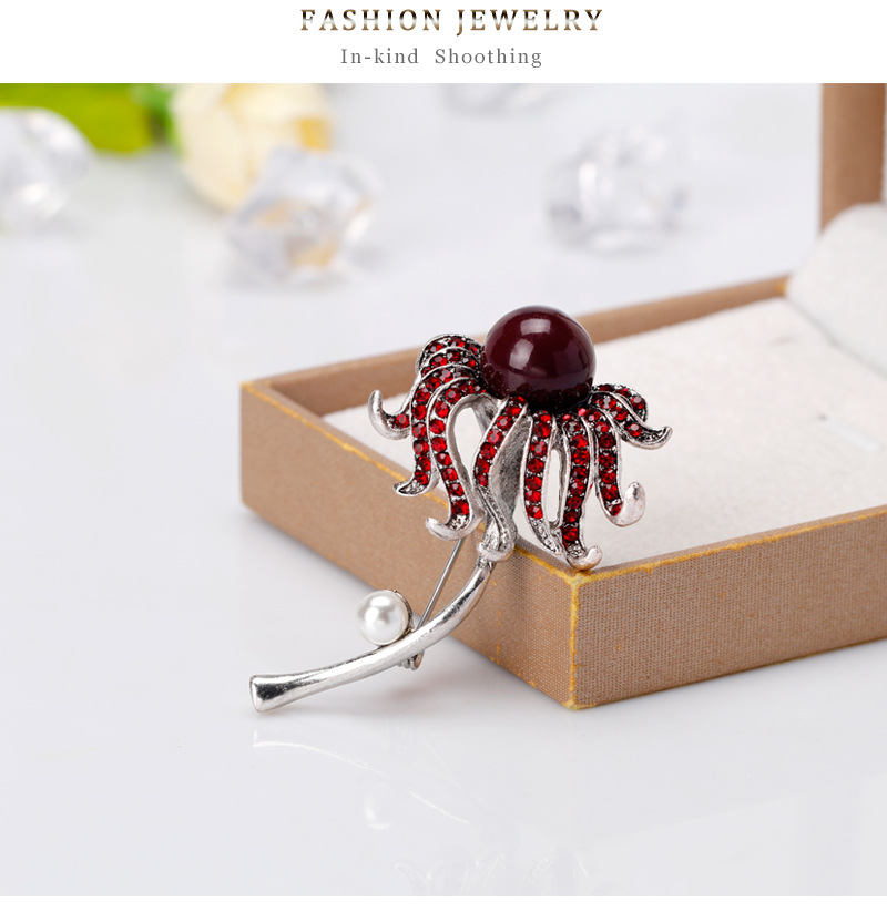 Alloy Simple Flowers brooch  (AL251-A) NHDR2638-AL251-A