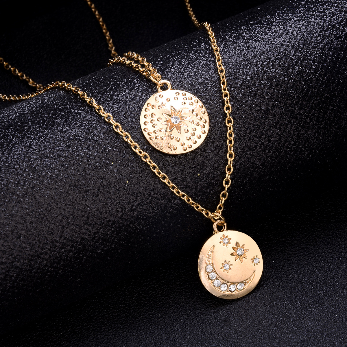 Fashion alloy disc necklace NHPV153604