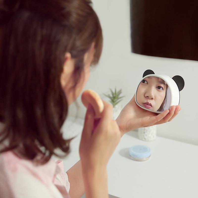 熊猫声控电子静音床头智能闹钟学生创意多功能可爱卡通儿童女简约