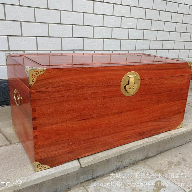 樟木箱子复古木箱陪嫁箱收藏箱木箱定制