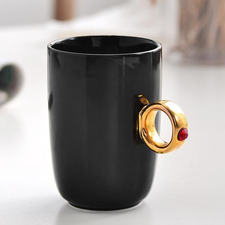 Rắn cốc gốm vài sáng tạo nhẫn hộp quà tặng với biểu tượng tùy chỉnh để đánh dấu gốm quà tặng cốc cà phê Cup Hộp quà