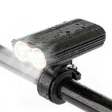 新款自行车前灯 双T6前灯 高亮USB充电前灯 铝合金充电灯骑行灯