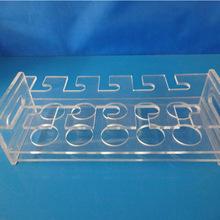 厂家直销容量瓶架 2排8孔有机玻璃容量瓶架亚克力容量瓶架