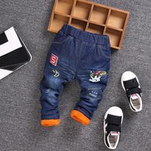 冬季新款男童牛仔棉褲小男童加絨加厚外穿棉褲廠家直銷兒童棉褲子