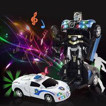 【包邮】电动变形机器人儿童万向益智玩具车灯光音乐地摊夜市热卖