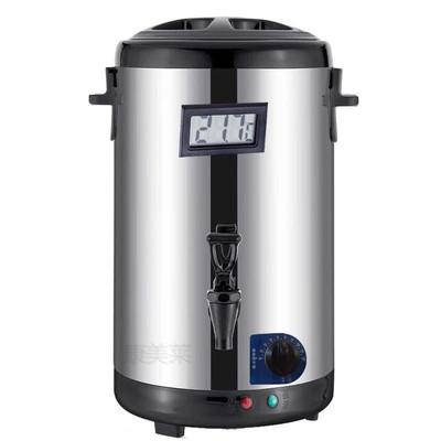 304不锈钢烧水开水桶 电热奶茶桶 商用双层全自动加热保温大容量