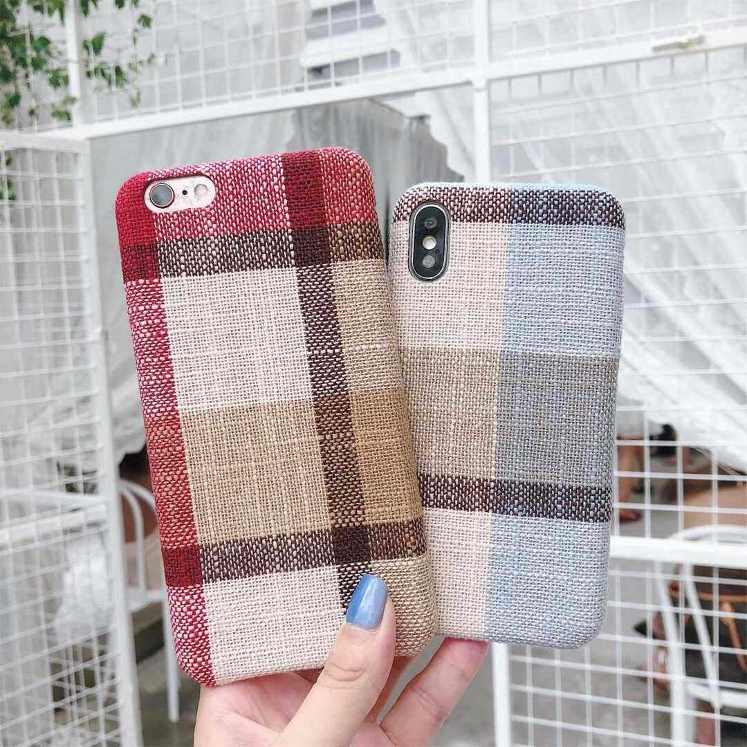 British style sub-iPhone7 mobile phone shell female models Apple 8 soft shell 7plus velvet shell 6P simple personality tide