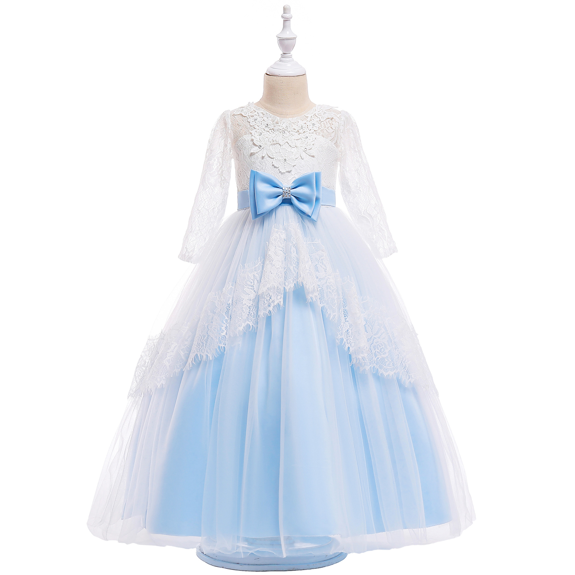 Teenage Girl Long Gown for Girls Party Wear Children Clothing Luxury ...