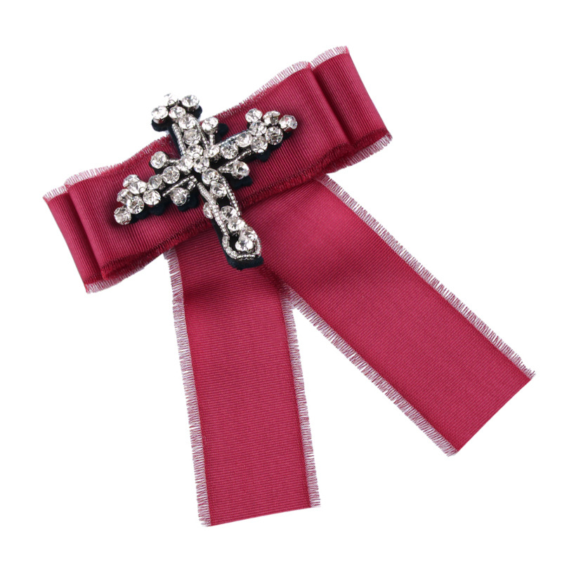 Alloy Korea Bows brooch(red) NHJQ10129-red