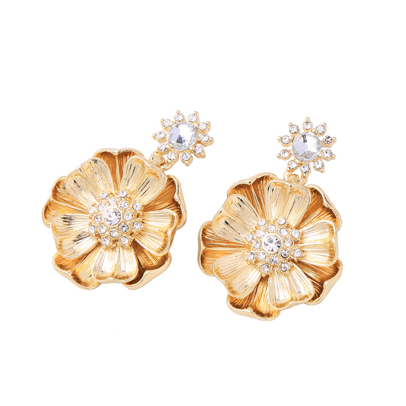 Alloy Fashion Flowers earring(Photo Color) NHQD5131-Photo Color