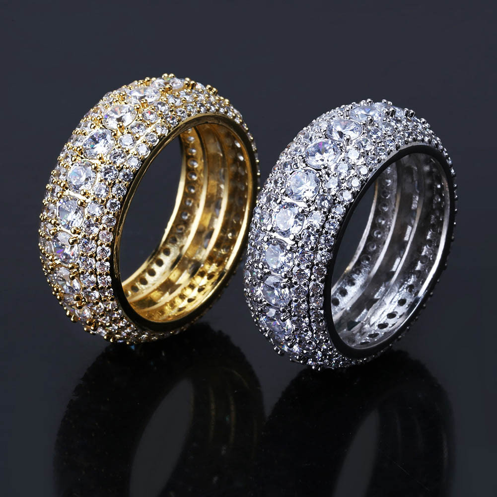 2019 Luxury Designer Jewelry Mens Rings Hip Hop Iced Out Diamond