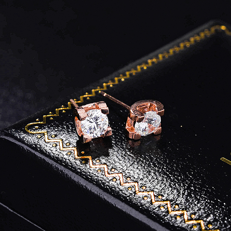 Alloy Simple Geometric earring  red NHLJ3677red