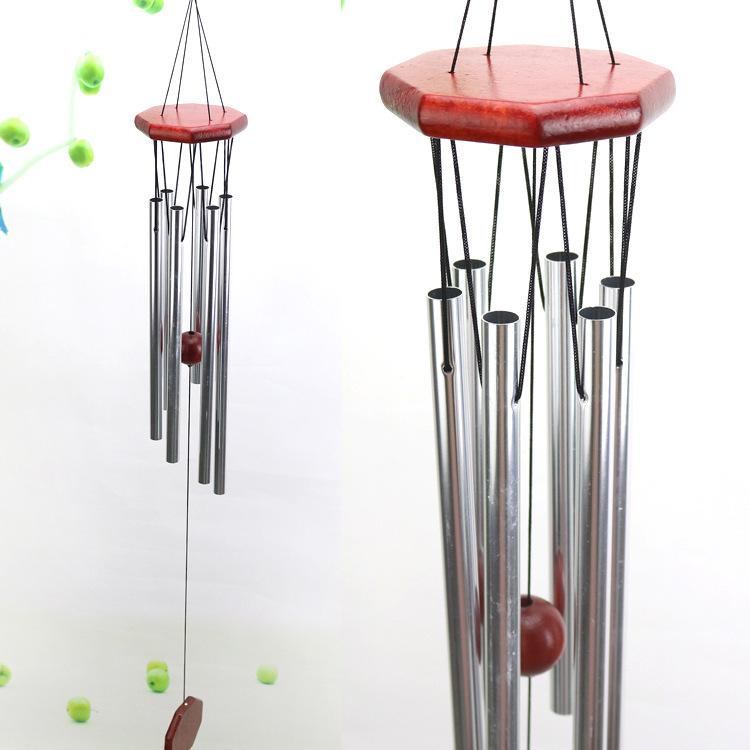 创意实木金属多管风铃车内装铈品新房门铃装铈 红木风铃挂件