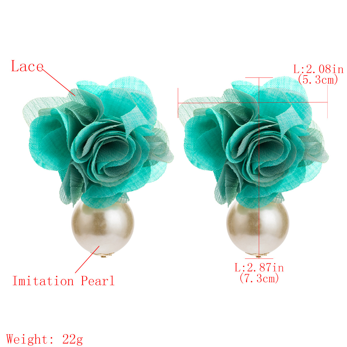 Beads Fashion Flowers earring  (yellow) NHJE2474-yellow