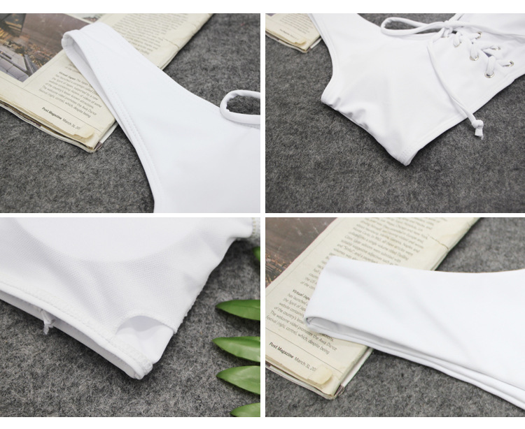 Polyester Fashion  Bikini  (White-S)  Women Clothing NHCC0779-White-S