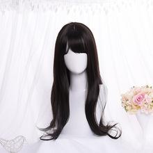 韩版清新时尚高温丝长卷发齐刘海假发可染烫假发女cosplay 假发女