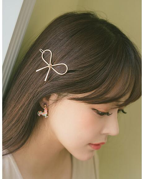 New fashion bow sweet and simple cheap hairpin wholesale NHDQ207420