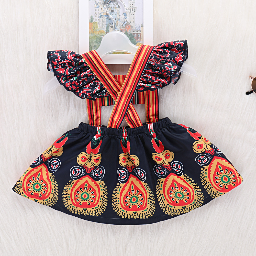 a0db11b1e2c9 2019 Baby Girls Dress 2018 Summer Fashion Retro Lovely Backless Kids ...