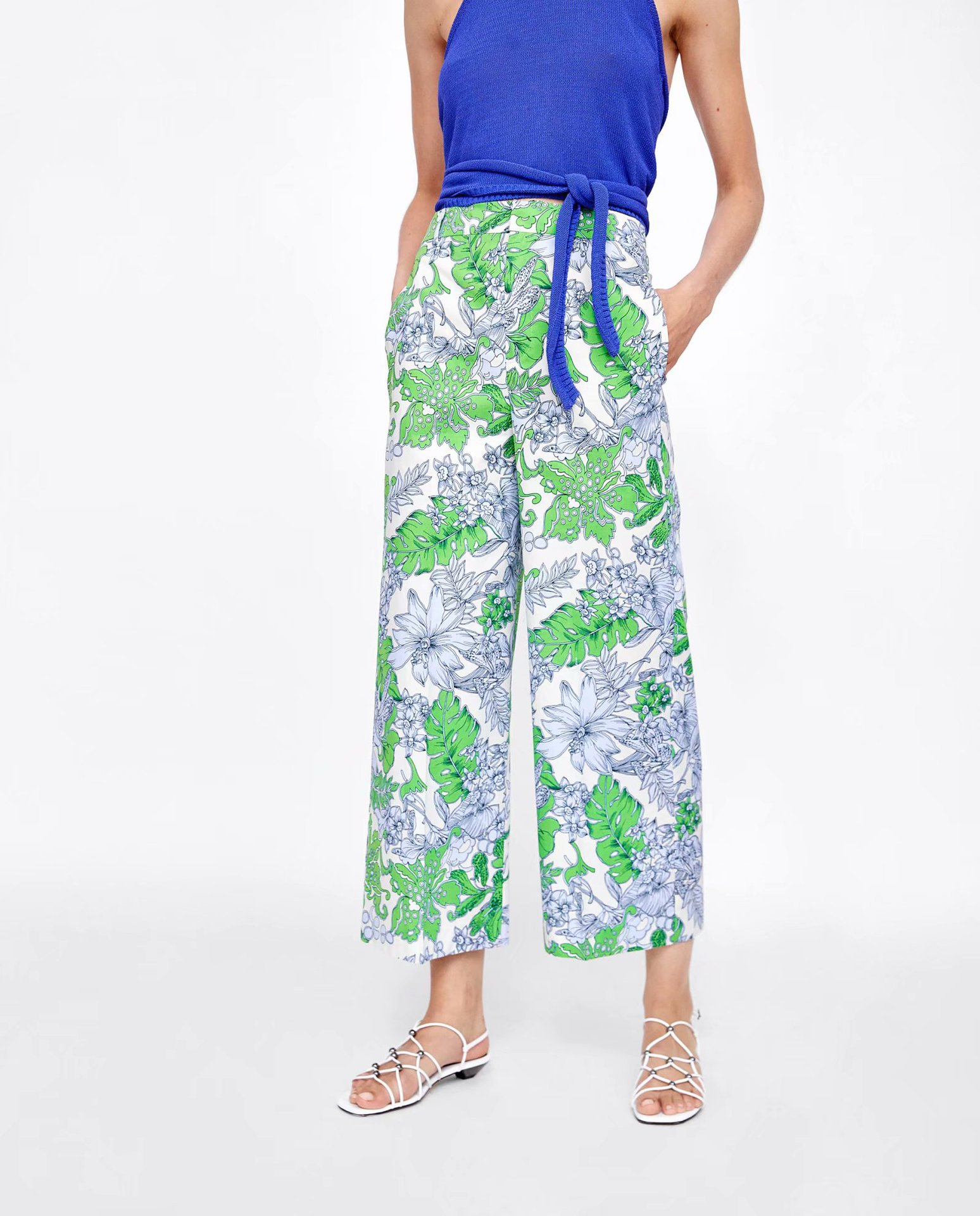 Chiffon Fashionpants(Picture color -S) NHAM4456-Picture-color-S