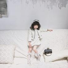【现货】 2018年童装女童加厚秋冬名媛系列小香风套装淑女两件套