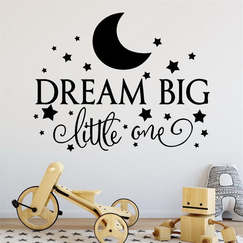 Dream Big Quote Wall Stickers Removable Characters Art Vinyl Murals Home  Kids Room Wall Decal Decoration Sticker Quotes Wall Decor Sticker Wall From  ...