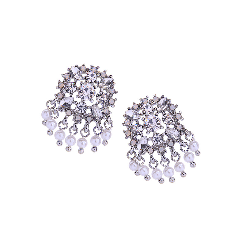 Alloy Fashion Flowers earring  (Photo Color) NHQD5505-Photo-Color