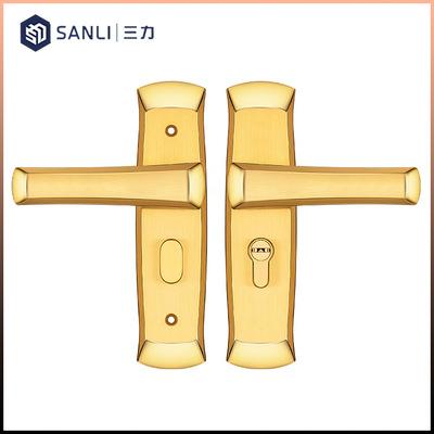 2019新款304不锈钢执手锁室内门锁家用通用型卫生间浴室锁带钥匙