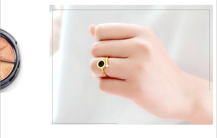 Womens Geometric Plating Titanium Steel Rings NHOK138966