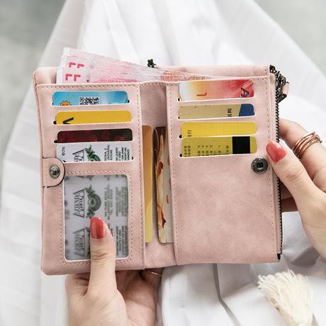 Ví da Amoy * ví mờ nữ ngắn đoạn nhỏ tươi 2019 phiên bản tiếng Hàn mới của ví đơn giản dễ thương