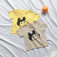 2019夏裝男女寶寶卡通印花百搭短袖T恤嬰兒半袖兒童上衣打底衫潮